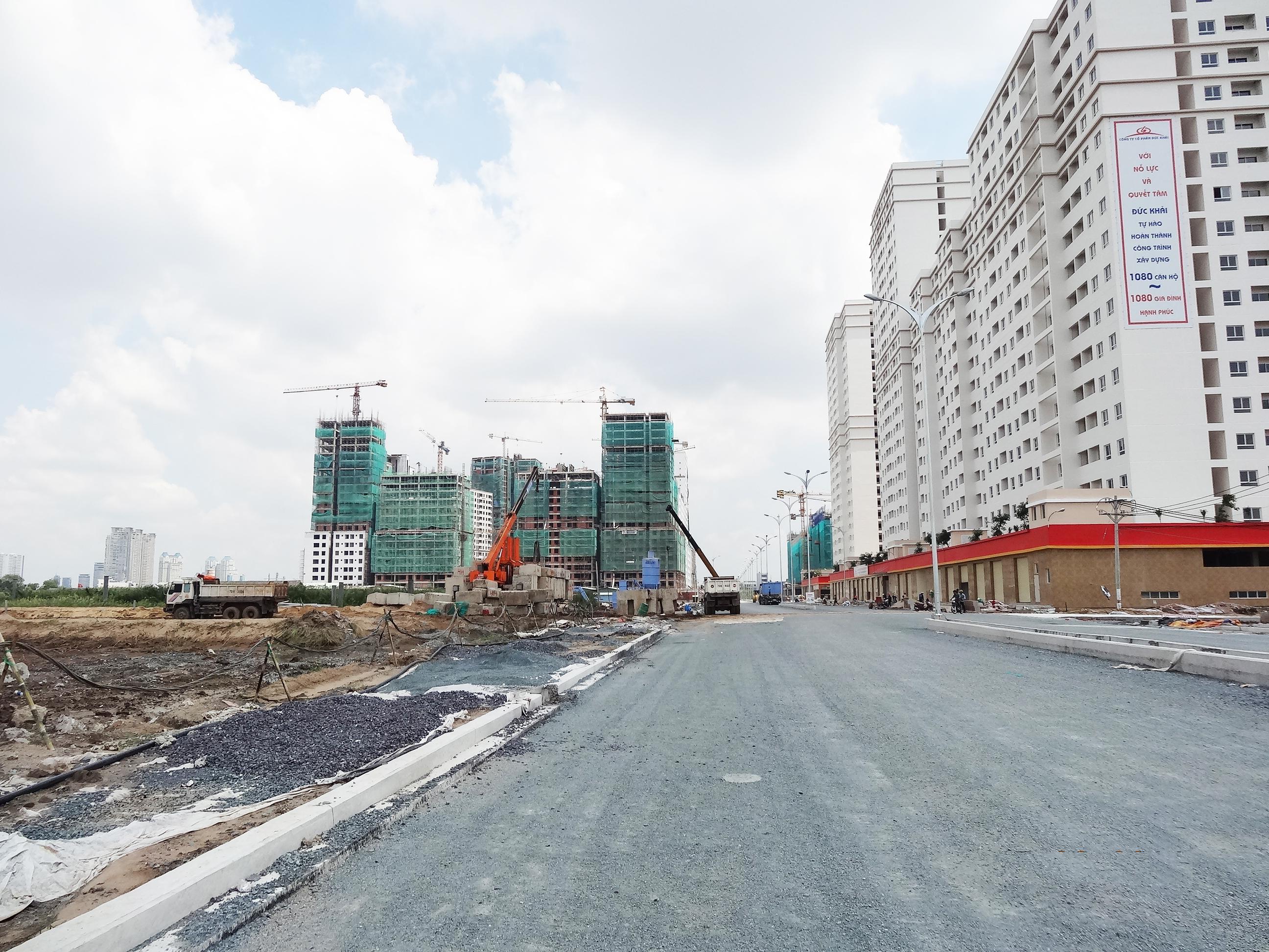 Đường D2 khu tái định cư Bình Khánh - TP HCM